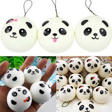Jumbo Panda Squishy Bread Semll Charm Bun Cell Phone Strap Pendant Cute 2Pcs