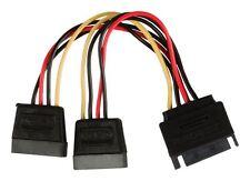 Glaxio SATA power splitter cable SATA 15-pin male - 2x SATA 15-pin female 0.15 m