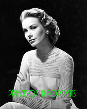 GRACE KELLY 8X10 Lab Photo 1956 EMERALD CUT ENGAGMENT RING, Elegant Portrait