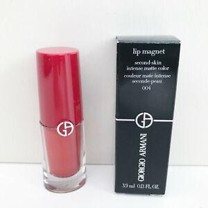 Giorgio Armani Lip Magnet Matte Liquid Lipstick, #004 Fire Topaz, BrandNewInBox