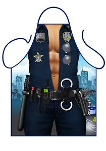 Police Man cheeky novelty apron . Secret Santa Gift.