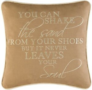 You Can Shake Sand From Shoes Beach Lover 14 Inch Square Accent Throw Pillow
