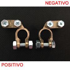 AUTO BATTERIA MORSETTI COPPIA STANDARD UNIVERSALI NEGATIVO POSITIVO 17/18mm ju