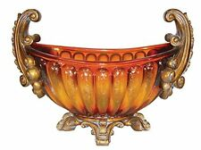 Ok Lighting Ok-2786C Gold Amber Centerpiece Amber New