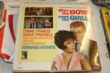 Record Album LP When the Boys Meet the Girls Connie Francis Herman's Hermits