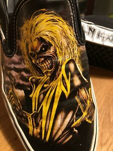 RARE IRON MAIDEN KILLERS VANS SHOES MEN US 10.5 WOMAN 12 + SPECIAL FREE GIFTS