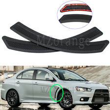 Pair For Mitsubishi Lancer 2008-2015 EVO 10 X Black Front Fender Side Vent Cover