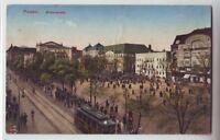 Posen  Wilhelmsplatz  Straßenbahn  1914 Poznań   Polen