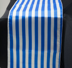 Lamour Satin Striped Table Runners 5 Colours Tableware Wedding Decor Events