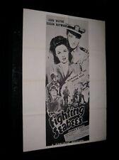 Original VIETNAM ERA 1960s Military Theatre Poster JOHN WAYNE FIGHTING SEABEES