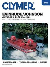 1973 1990 Evinrude Johnson 2/4 Stroke 48-235 Outboard Clymer Repair Manual B736