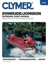 1973 1990 Evinrude Johnson 2/4 Stroke 48-235 Outboard Clymer Repair Manual B736