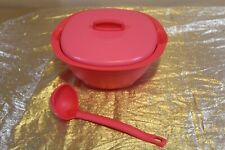 New UNIQUE Emberglow Tupperware Legacy Rice and Soup Server Bowl w Scoop 1.8L