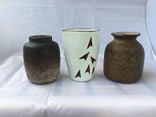Jaap Ravelli Dutch Art Pottery Mid-Century set op 3 litle vases