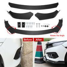 Carbon Fibre Car Front Bumper Lip Body Kit Spoiler Adjustable Angle Universal