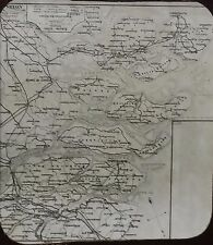 Map of Zealand (Sealand), Denmark, Holland, Magic Lantern Glass Slide