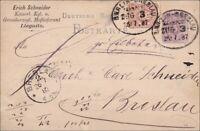 Brief - Berlin-Breslau Zugstempel 1887