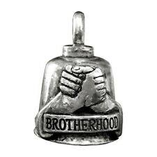 Pewter Motorcycle Gremlin Bell Brotherhood Fists Handshake Made in the USA