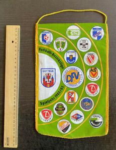 Wimpel DDR-Bezirksliga Cottbus 1982/83 mit TSG Tettau, Energie Cottbus, ...