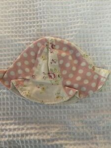 """Floral & Polka Dot Baby Girls Hat Circumference approx. 16"""""""