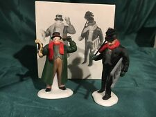 "(1) Dpt 56 / Heritage #5569-7 Dickens ""Town Crier "" ""Chimney Sweep"" Set Of 2Pc"