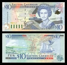 East Caribbean States 10 Dollars ND(2000) P38 UNC (completed set of 8 notes)