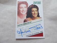 Quotable Star Trek TNG Autograph Card - Marina Sirtis  as Counselor Troi