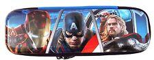 Marvel Comics Avengers Assemble Boy's Graphic Hard Cover Tin Pencil Case NEW