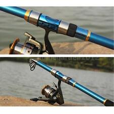 2.4M Casting Telescopic Fishing Rod Tackle Travel Spinning Fishing Pole Lot W5D6