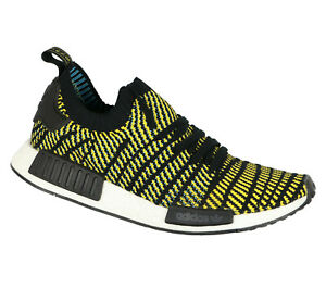 ADIDAS NMD R1 Running Shoes sz 11.5 Black Yellow Stealth Pack Primeknit