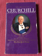 Churchill In Memoriam - Edited by the New York Times - 1965 Used Paperback Book