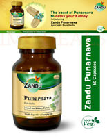 Zandu Punarnava for Kidney Detox, Liver Function, Urinary Disorders, 60 Capsules