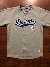 MLB Los Angeles Dodgers Baseball Gray Jersey Size Medium