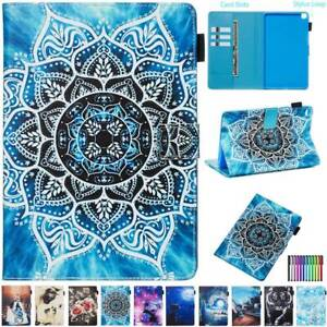 """For 7"""" 8"""" 10.1"""" 10.5"""" Samsung Galaxy Tab A E S5e Tablet Leather Stand Cover Case"""