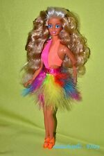 Stunning Tanned Superstar Barbie Doll Curly Hair with One Piece Bikini Swimsuit