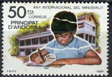 Spanish Andorra Stamps - 1981 Int Year Of Disabled Persons Mint Condition