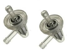 """2 x 90 Degree Motorcyle Clear Inline Gas  Right Angle Fuel Filter 1/4""""  6mm 7mm"""