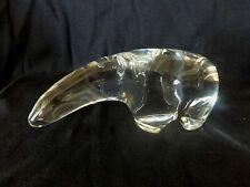 OURS POLAIRE en cristal Signé Gravé dessus CRISTAL BACCARAT FRANCE Authentique