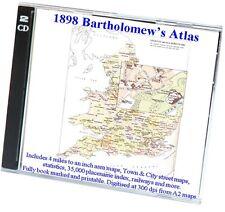 Bartolomeo'S ROYAL Atlante di Inghilterra e Galles 1898-mappe per l'Inghilterra e Galles