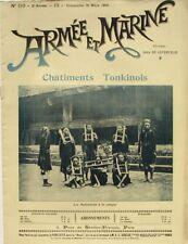 Armée et Marine n°110 - 1901 -  Châtiments Tonkinois La Cangue  - La Spezzia -