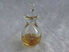 Heron Glass Amber Hand Blown Perfume Bottle with Glass Stopper - Gift Box