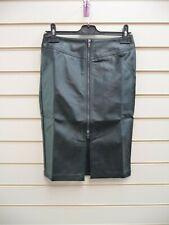 Rainbow  black Faux leather Skirt size 8  BNWOT G049