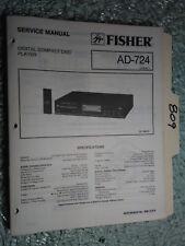 Fisher ad-724 service manual original repair book stereo cd player
