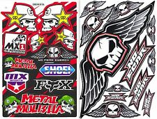 2SH. ROCKSTAR METAL MULISHA NO FEAR SKULL VINYL DECAL STICKER DIE-CUT RACING