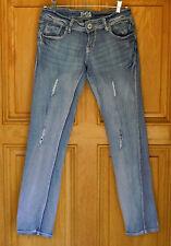 Jade Ladies Size 3/4 Low Rise Skinny Distressed Blue Jeans