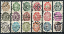 Deutsches Reich Dienstmarke 114 - 131 gestempelt ME 80 (722198)