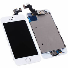 White LCD Touch Screen Digitizer Replacement Assembly For iPhone 5S Gold Button