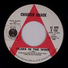 CHICKEN SHACK: Tears in the Wind BLUE HORIZON Promo B 100 Blues Rock 45 NM