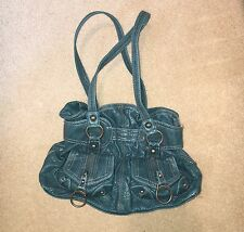 kathy Van Zeeland Teal Purse Handbag Blue Aqua Vegan Womens