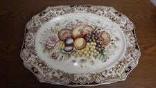 """VTG 1960 Johnson Bros ENGLAND Windsor Ware Harvest 20"""" Oval Serving Platter"""